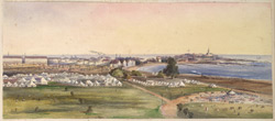 'Bombay - The Esplanade and Colaba in the distance. March 1870 (from the top of Watson's Hotel).